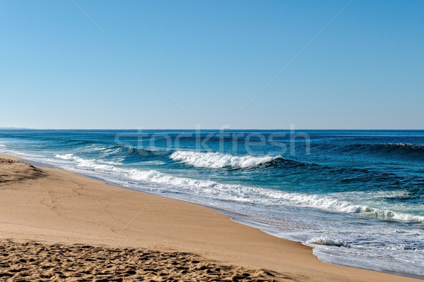Waves in the Ocean Crashed on Sand Beach Stock photo © Discovod