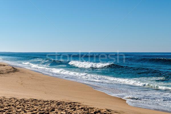 Ondas oceano areia praia água Foto stock © Discovod