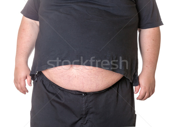 太った男 ビッグ 腹 クローズアップ 男 ボディ ストックフォト © Discovod