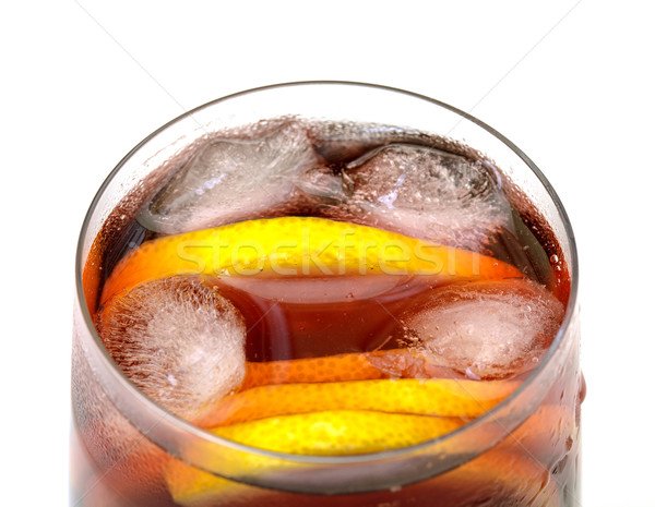 Sangria with Ice in a Glass Beaker Stock photo © Discovod