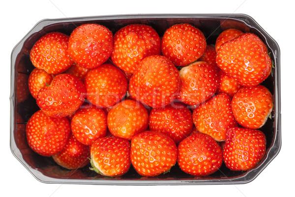 Fraîches fraises blanche alimentaire fruits Photo stock © Discovod