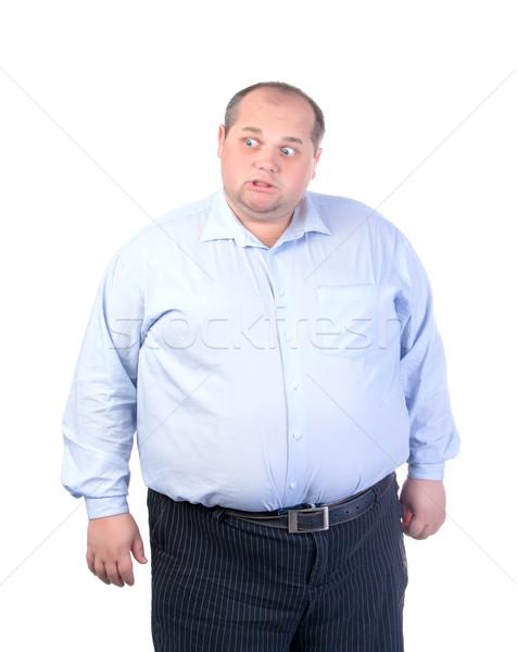 太った男 青 シャツ 男 白 人 ストックフォト © Discovod