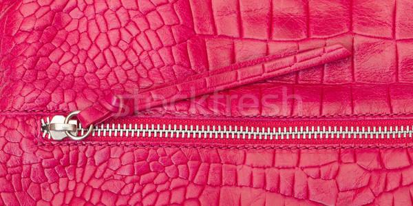 Pembe deri fermuar kullanılmış moda Stok fotoğraf © Discovod