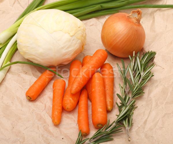 Ingredientes salada marrom reciclado papel natureza Foto stock © Discovod