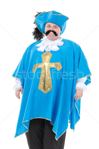 Musketeer in turquoise blue uniform Stock photo © Discovod