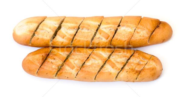 Delicioso baguette blanco pan objetos saludable Foto stock © Discovod