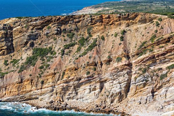 пляж песчаник воды пейзаж морем Сток-фото © Discovod