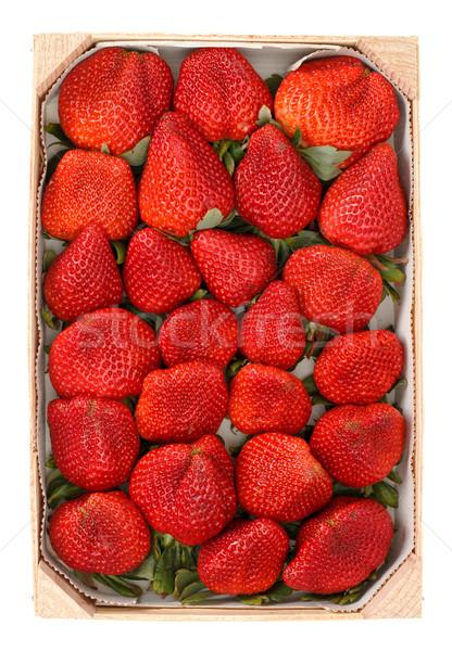 куча красный клубники окна лист Сток-фото © Discovod
