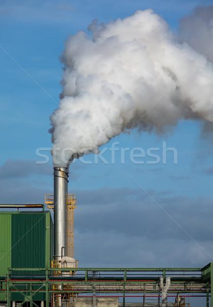 Cső kék ég napos idő égbolt fém kék Stock fotó © Discovod