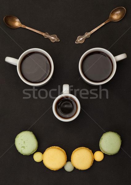 Boom koffie blij gezicht zwarte gezicht Stockfoto © Discovod