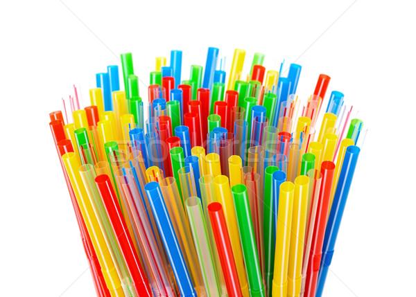 Сток-фото: пластиковых · питьевой · вечеринка · зеленый · синий