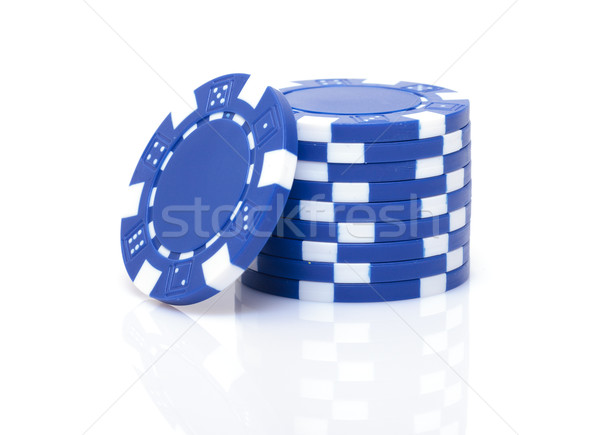 Small Stack of Blue Poker Chips Stock photo © Discovod