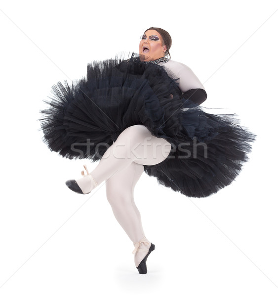 Drag queen dancing in a tutu Stock photo © Discovod