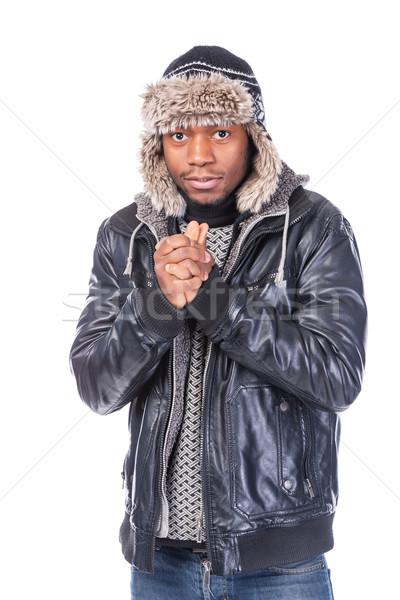 Jeunes sensation froid hiver vêtements Photo stock © Discovod