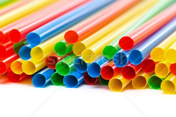 Plastique potable fête vert bleu Photo stock © Discovod