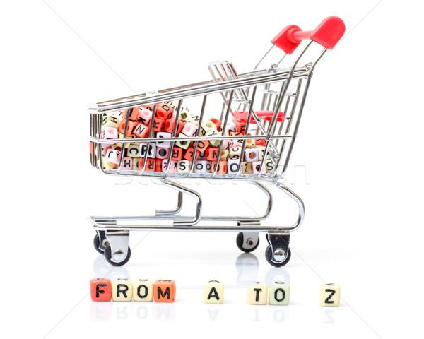 Carrinho de compras completo alcance produtos negócio fundo Foto stock © Discovod