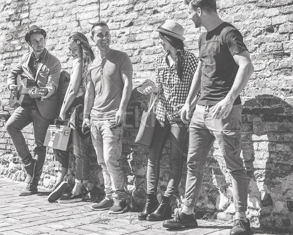 グループ 友達 演奏 音楽 ギター ストックフォト © DisobeyArt