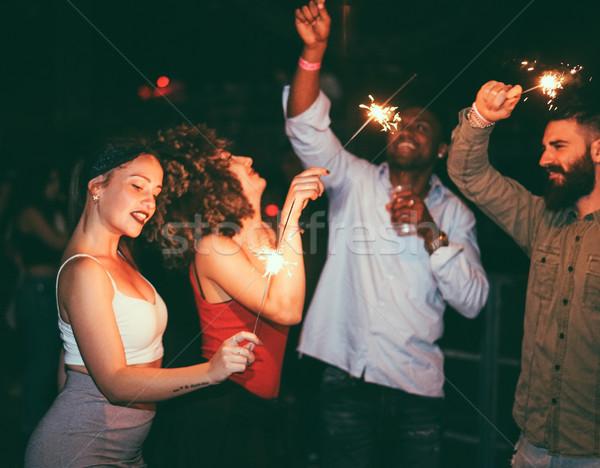Stockfoto: Jonge · vrienden · dansen · nachtclub · partij