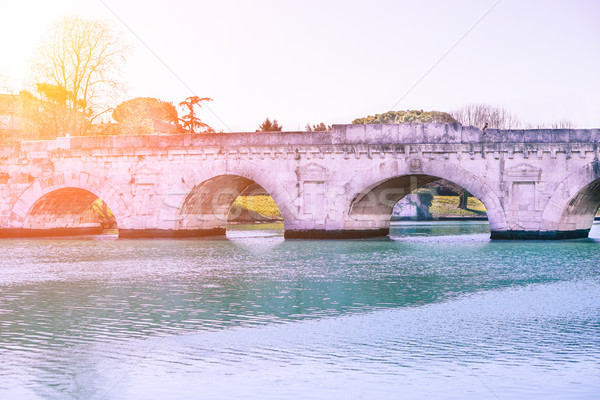 Roman Tiberius bridge built in the early 1st century BC across t Stock photo © DisobeyArt
