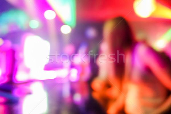 Borroso personas baile original láser color Foto stock © DisobeyArt