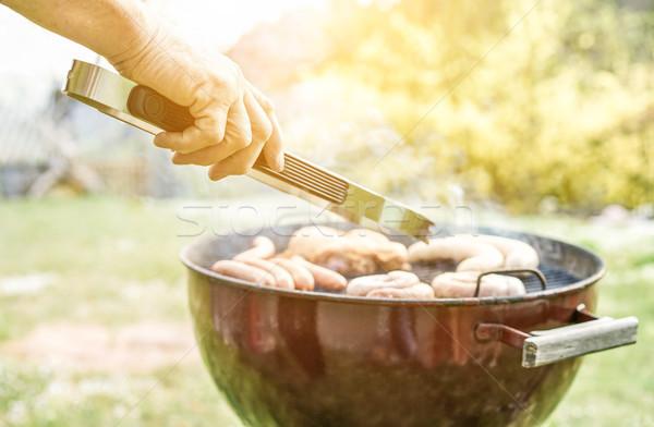 человека приготовления мяса обеда барбекю повар Сток-фото © DisobeyArt