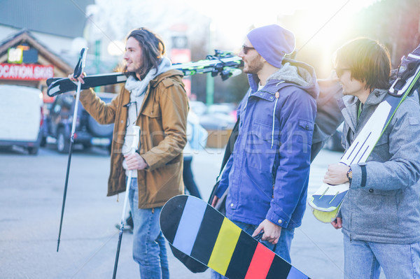 幸せ 友達 スキー 冬 休暇 若者 ストックフォト © DisobeyArt