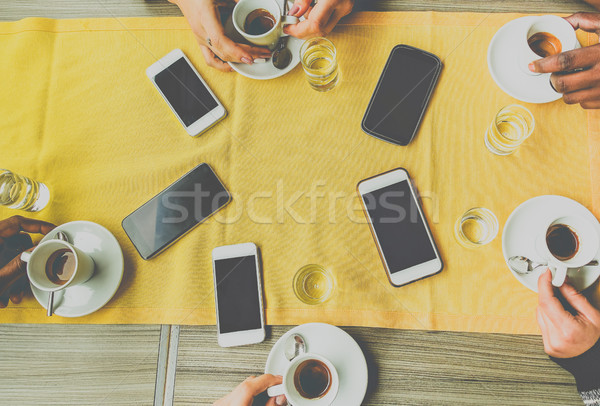 Top vrienden handen Italiaans Stockfoto © DisobeyArt