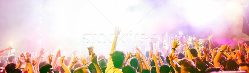 Offuscata persone dancing estate festival Foto d'archivio © DisobeyArt
