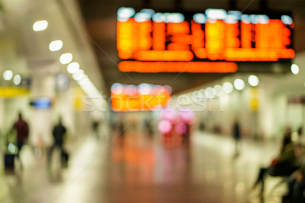 Blurred people on high speed train metropolitan station - Defocu Stock photo © DisobeyArt