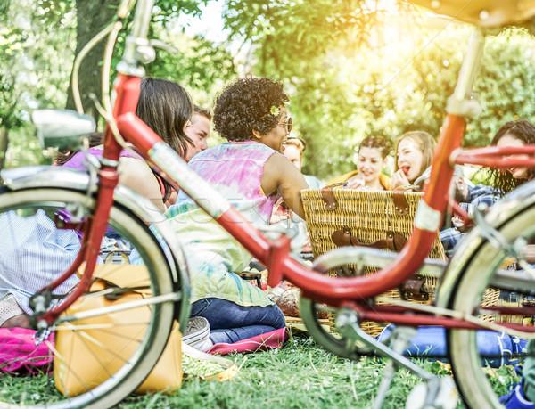 Cultuur vrienden picknick stad Stockfoto © DisobeyArt