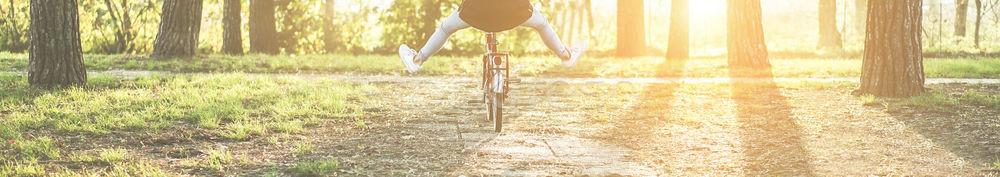 Young woman on old style italian bicycle with back light - Girl  Stock photo © DisobeyArt