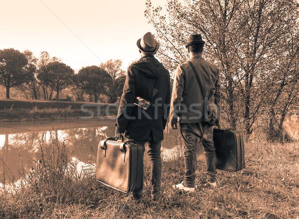 En İyi arkadaşlar hazır macera seyahat moda Stok fotoğraf © DisobeyArt