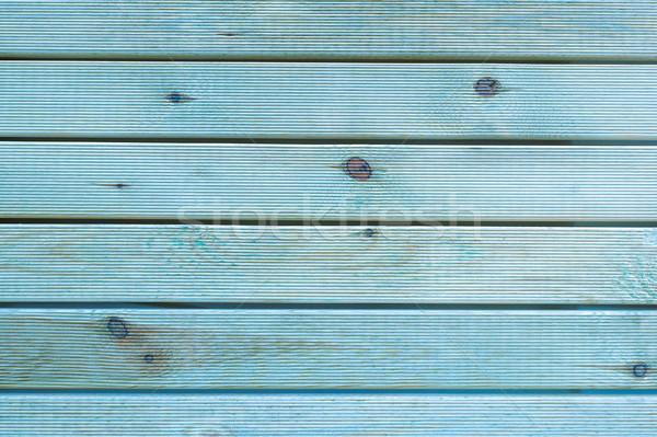 ストックフォト: 描いた · 青 · グレー · 素朴な · 木材 · ボード
