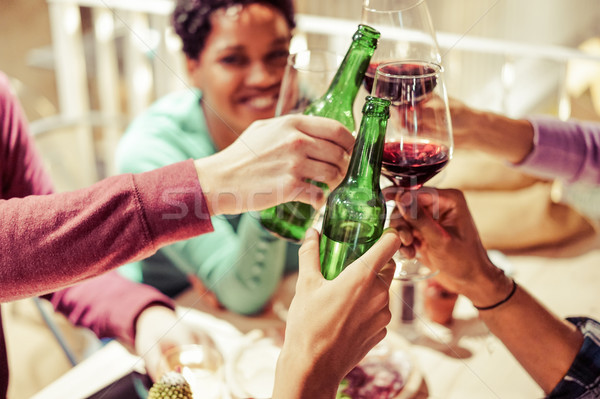 Diverse People Ethnicity Friends Hanging Out - Multiracial Dinne Stock photo © DisobeyArt