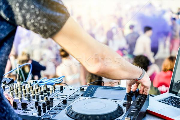 Aire libre disco fiesta playa disco disc jockey Foto stock © DisobeyArt