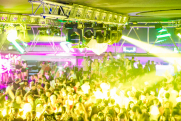 Blurred People dancing old style music - Defocused image of disc Stock photo © DisobeyArt