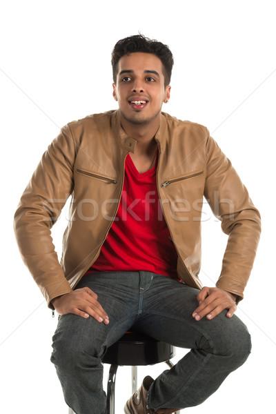 Enthousiast man knap jonge indian schoonheid Stockfoto © disorderly