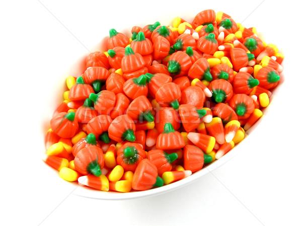 şeker çanak halloween mısır düşmek şekerleme Stok fotoğraf © disorderly