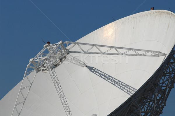 Antena satelitarna danych satelitarnej anteny naczyń Zdjęcia stock © disorderly