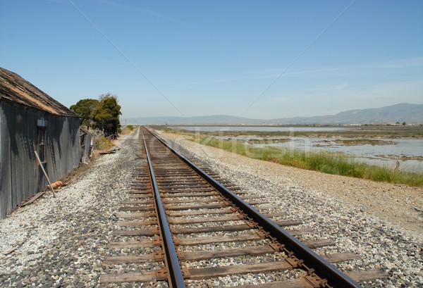 Tracks & shack Stock photo © disorderly
