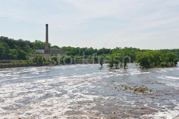 Mississipi nehir altında kilitlemek Stok fotoğraf © disorderly