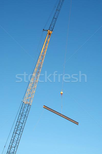 Nyaláb építkezés állvány épület mozog Stock fotó © disorderly