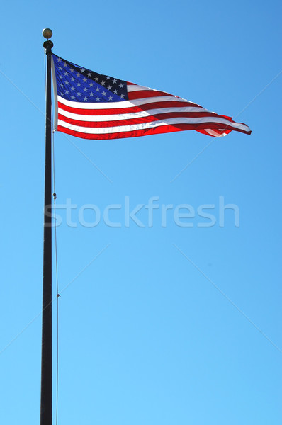 Amerikaanse vlag bries sterren Rood witte Stockfoto © disorderly
