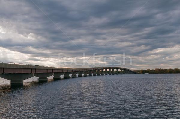 Köprü göl nokta New York yol karayolu Stok fotoğraf © disorderly