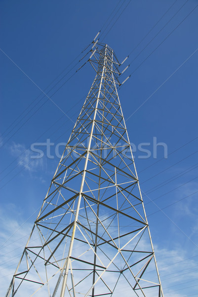 Power transmission tower Stock photo © disorderly