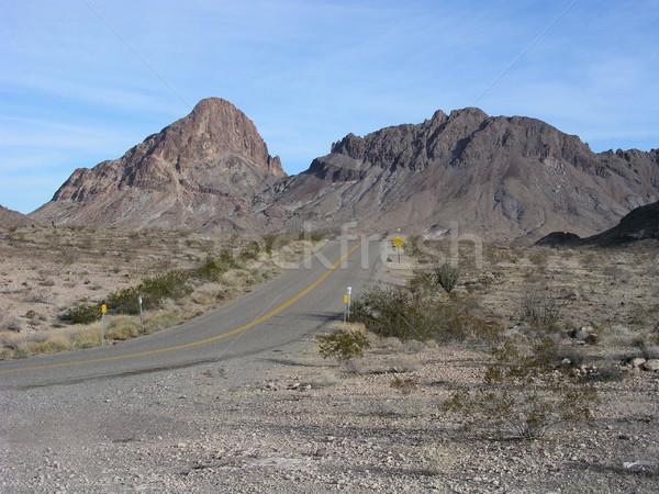 Historisch route 66 buiten weg berg Stockfoto © disorderly