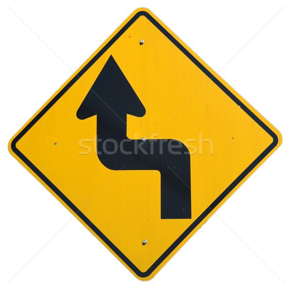 ジョグ 道路 通り にログイン 道路 矢印 ストックフォト © disorderly