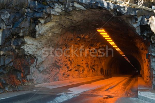 トンネル 花崗岩 崖 ヨセミテ国立公園 カリフォルニア 公園 ストックフォト © disorderly