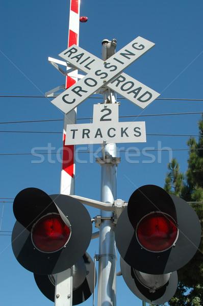 Railroad Crossing Stock photo © disorderly
