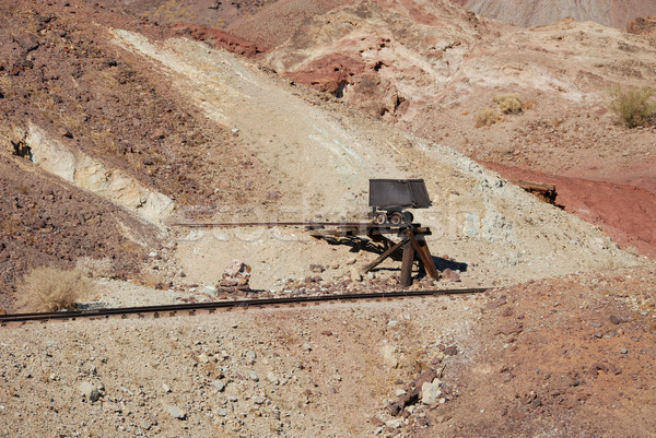 Carrito mina rail línea California ciudad muerta Foto stock © disorderly